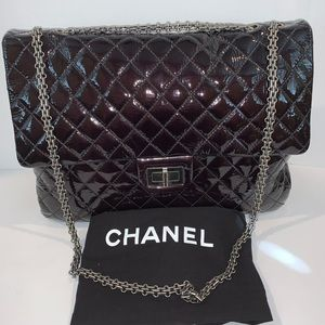 Chanel Maxi 2.55 Reissue Amarante Patent Flap Bag